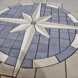 Компас декоративний елемент для тротуарів (h = 40 мм)