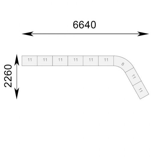 Гранде кутова комплект 9 секцій