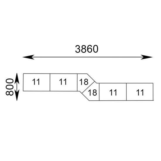 Гранде Z-подібний комплект 6 секцій
