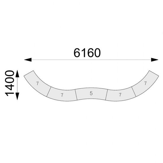 Гранде-II комплект С-подібний 5 секцій