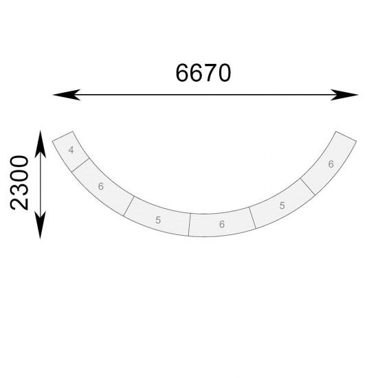 Гранде-II полукруглая комплект 5 секций