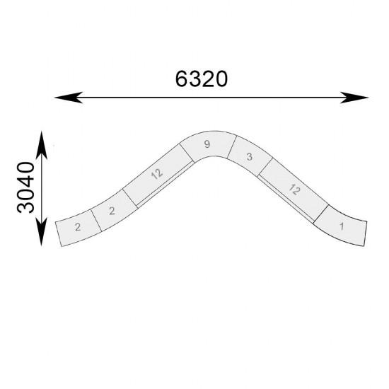 Гранде V-образная комплект 7 секций