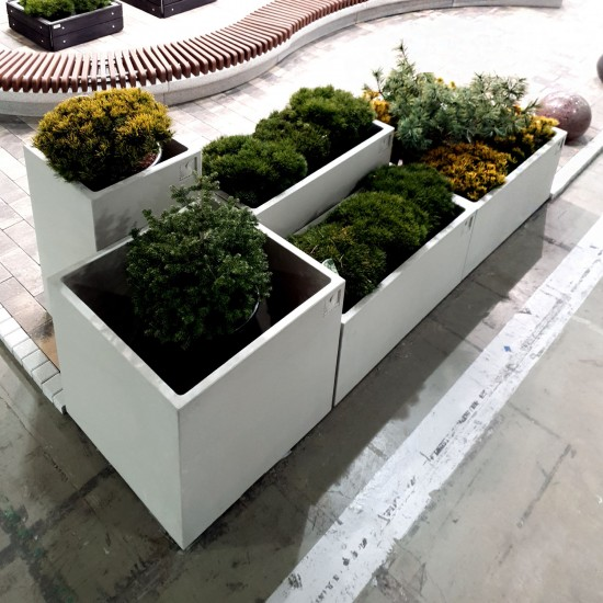 Flower planter Solo 600x1200 (h=920 mm)