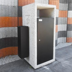 Solo litter bin with ashtray