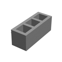 Block for ventilation ducts