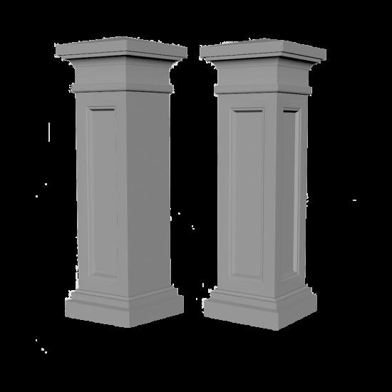 Колонна забора, колонна забора угловая