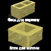 Блок декоративний (400х200х200)