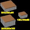 Квадрат 200х200х100