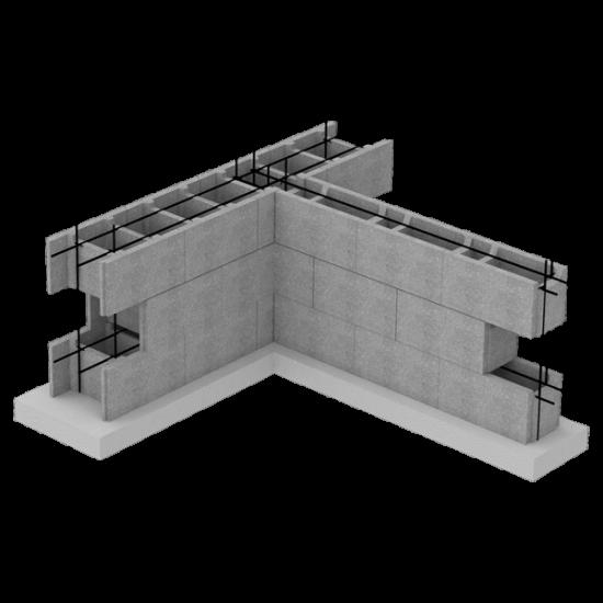 Блок незнімної опалубки (510х400х235)