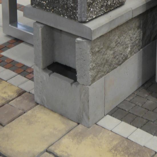 Блок декоративний незнімної опалубки (500х400х235)