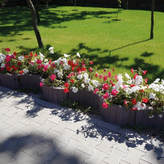 Flower planter vibropressed