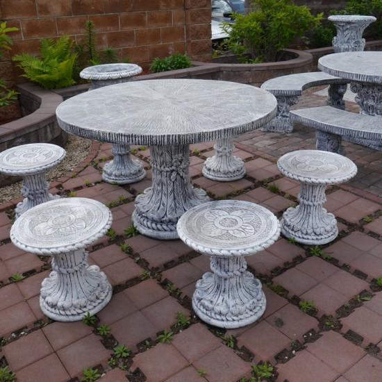 Round table Kuerda, Kuder Stools