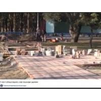 У місті Горішні Плавні облаштовують нові пішохідні доріжки.